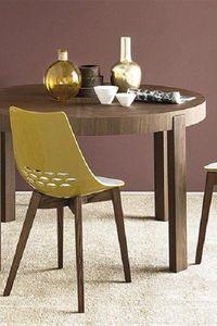 Calligaris - chaise jam w de calligaris piétement frêne teinté  - Chaise