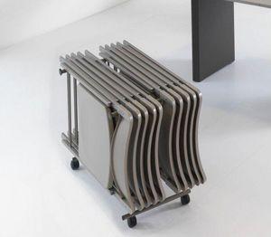 WHITE LABEL - porte chariot proteo sable - Chaise Pliante