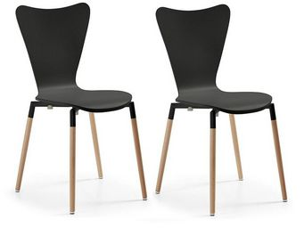 MyCreationDesign - conor noir - lot de 2 - Chaise