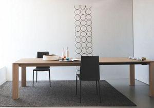Calligaris - table repas extensible sigma xl 180x100 de calliga - Table De Repas Rectangulaire