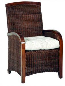 WHITE LABEL - fauteuil mikala en rotin - Fauteuil