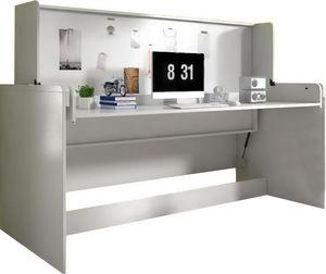 WHITE LABEL - bureau amovible avec lit escamotable combiné 90x20 - Bureau Enfant