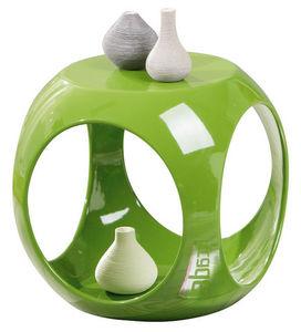 WHITE LABEL - table d?appoint en forme cube coloris vert design - Table D'appoint