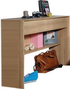 WHITE LABEL - meuble console à 1 tiroir coloris bois naturel - Console