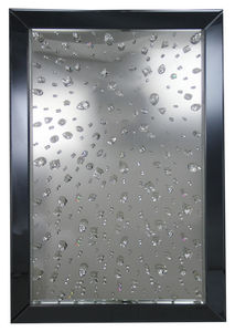 WHITE LABEL - miroir ultra chic design diamant - Miroir