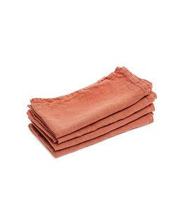 Couleur Chanvre - ../couleur capucine en chanvre pur - Serviette De Table