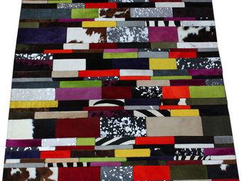 Tergus - tapis peau de vache rayé ref.802 - Tapis Contemporain