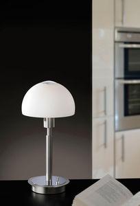 COMFORIUM - lampe à poser en acier chromé et verre opale - Lampe À Poser