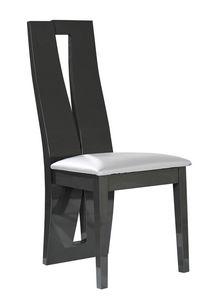 COMFORIUM - lot de 2 chaises salle à manger design coloris boi - Chaise