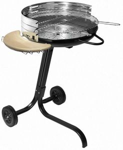 Dalper - barbecue à charbon sur roulettes star - Barbecue Au Charbon