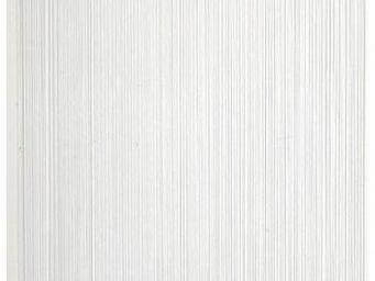 Aubry-Gaspard - rideau fil de porte en polyester blanc - Rideaux Pr�ts � Poser