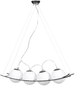 KOKOON DESIGN - suspension design uranus verre blanc - Suspension