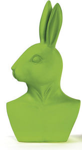 BADEN - statuette buste de lapin vert grand mod�le - Statuette