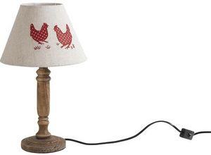 Aubry-Gaspard - lampe bois et metal - Lampe À Poser