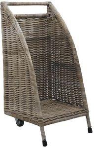 Aubry-Gaspard - chariot à buches à roulettes - Porte Buches