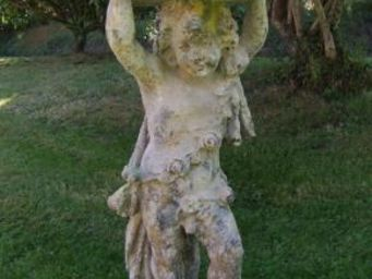 TERRES D'ALBINE - putti panier - Statue
