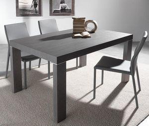WHITE LABEL - table repas extensible wind design wengé 140 cm - Table De Repas Rectangulaire