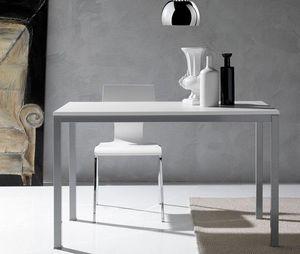 WHITE LABEL - table repas kerwiin design blanc 180 cm - Table De Repas Rectangulaire