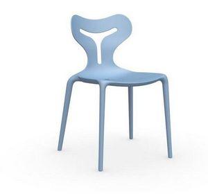 Calligaris - chaise empilable area 51 de calligaris bleu ciel - Chaise