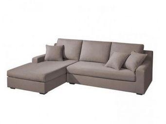 Home Spirit - canapé d'angle gauche fixe manhattan tissu tweed  - Canapé Modulable