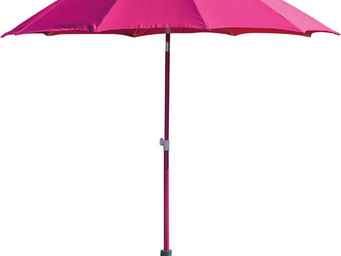 PROLOISIRS - parasol rond inclinable aluminium 2,70m framboise - Parasol