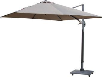 PROLOISIRS - parasol déporté carré 3 mètres taupe - Parasol