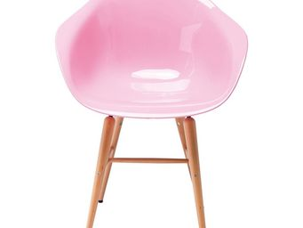 Kare Design - chaise avec accoudoirs forum rose clair - Chaise