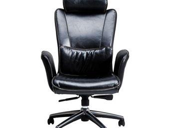 Kare Design - fauteuil de bureau boss noir grand modèle - Fauteuil De Bureau