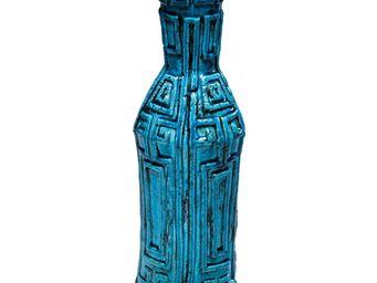 Kare Design - vase aztec bleu 44 cm - Vase Décoratif