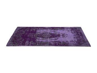 Kare Design - tapis carré kelim pop violet 240x170 - Tapis Contemporain