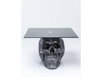 Kare Design - table basse skull rockstar by geiss 60x60 cm - Table Basse Carrée