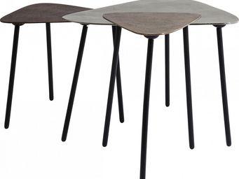 Kare Design - table basse gigogne loft triangle vintage 3/set - Table Basse Forme Originale