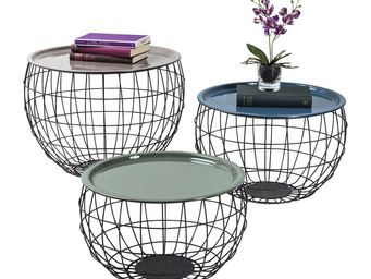 Kare Design - tables basses la costa wire (set de3) - Table Basse Ronde