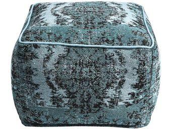 Kare Design - pouf kelim pop turquoise - Pouf