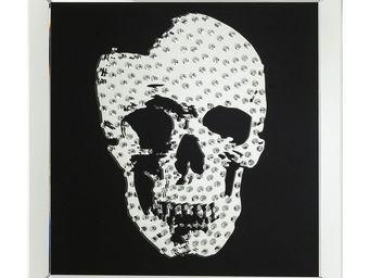 Kare Design - tableau skull rockstar by geiss - Tableau Décoratif