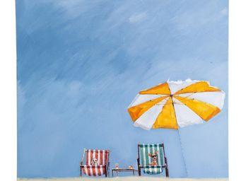 Kare Design - tableau deck chair 100x100cm - Tableau D�coratif