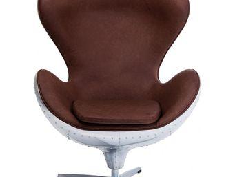 Kare Design - fauteuil pivotant soho big boss eco - Fauteuil Rotatif