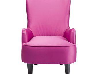 Kare Design - fauteuil à oreilles boudoir fuchsia - Bergère