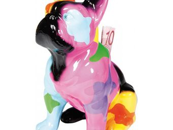 Kare Design - tirelire dog sitting colore - Statuette