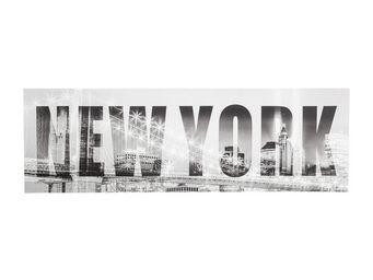 Kare Design - tableau new york bridge 45x140 cm - Tableau Décoratif