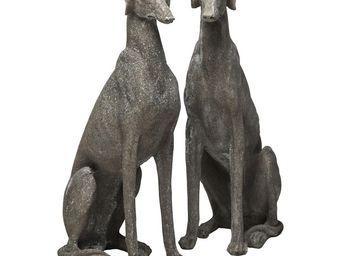 Kare Design - deco greyhound gris 2/set - Statuette