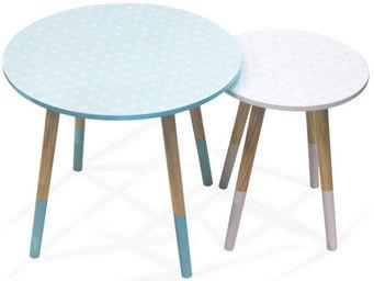 THE CONCEPT FACTORY - tables gigognes scandinave avec motifs géométrique - Tables Gigognes