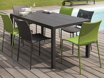 PROLOISIRS - salon bretagne 1 table + 6 chaises mousse mousse - Salle À Manger De Jardin