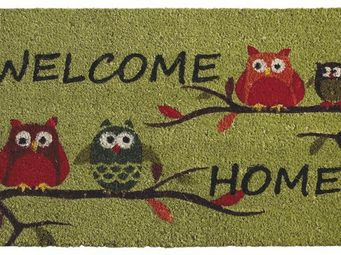 Aubry-Gaspard - paillasson hiboux welcome home - Paillasson