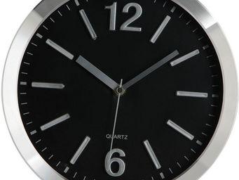 Amadeus - horloge 25cm alu noir - Horloge Murale
