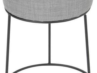 Amadeus - tabouret gris en métal cerclage - Tabouret