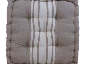 Cotton Wood - coussin de sol en coton 40 cm rayures - Coussin De Sol