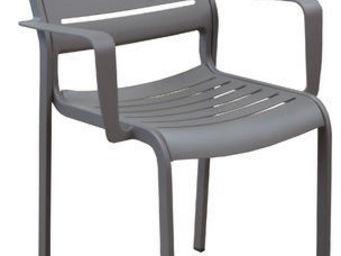 PROLOISIRS - fauteuil design belhara (lot de 2) taupe - Fauteuil De Jardin