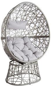 Aubry-Gaspard - fauteuil oeuf pivotant en polyrésine - Fauteuil