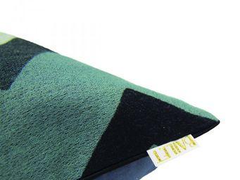 BAILET - coussin déco emblématique - 40x40 cm - verso gris  - Coussin Carré